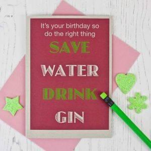 Gin Lovers Birthday Card