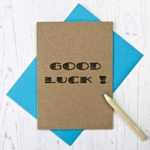 Good Luck Typography Card