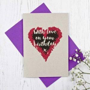 Heart Themed Birthday Card
