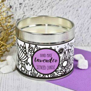 Handmade Lavender Scented Candle