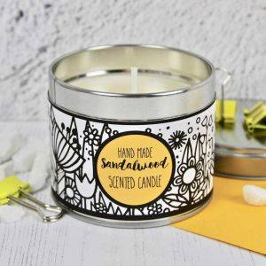 Handmade Sandalwood Scented Candle