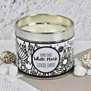 Handmade White Musk Scented Candle
