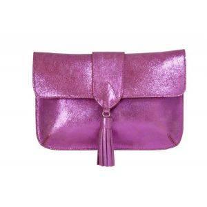 Jacqueline Clutch Pink Glitter Bag