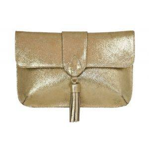 Jacqueline Clutch Gold Glitter Bag