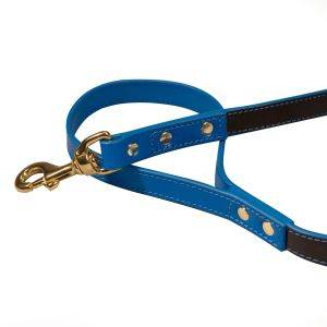 Pimlico Dog Lead Black/Blue