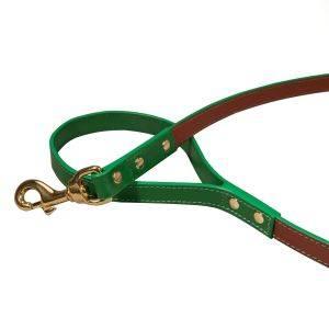 Pimlico Dog Lead Tan/Green