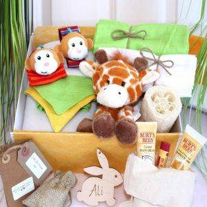 Safari Animal Themed Baby Gift Hamper