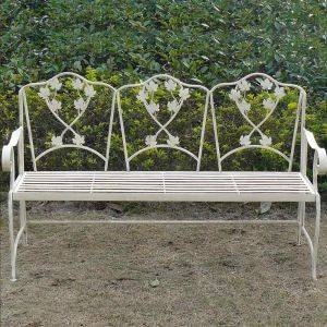 Wrought Iron Leaf Bench