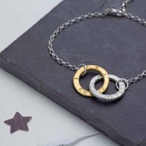 Sterling Silver Linked Halo Bracelet