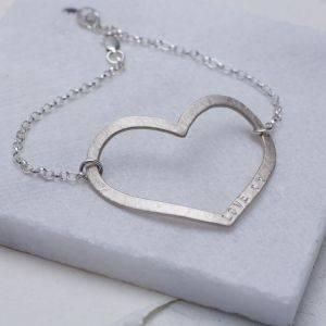 Personalised Mega Heart Bracelet