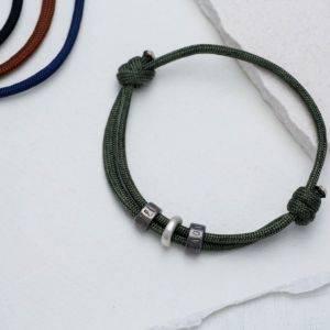 Mens Bead Rope Bracelet