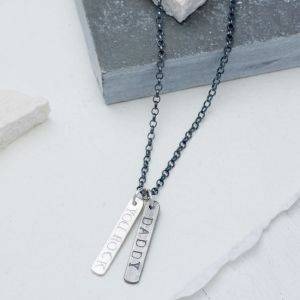 Mens Double Tag Necklace