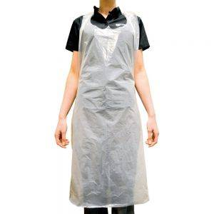 Disposable Apron 20 Micron Flat Packed - White - Pack of 100