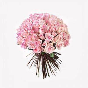 Dome Shaped Pink Rose Bouquet