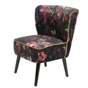 Anemone Print Accent Chair