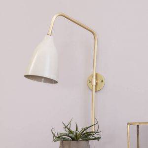 Evie Pale Grey Wall Lamp