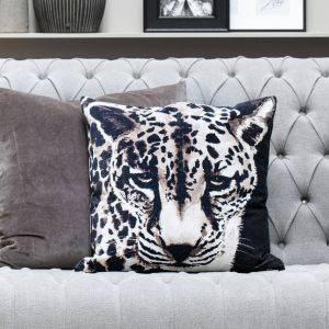 Graphic Leopard Print Cushion