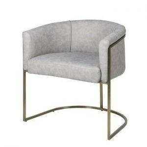 Grey Vintage Leather Armchair