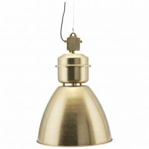 Industrial Style Brushed Brass Pendant