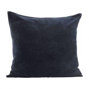 Large Dark Navy Velvet Scatter Cushion