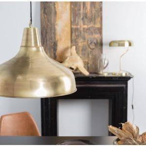 Large Industrial Brass Pendant