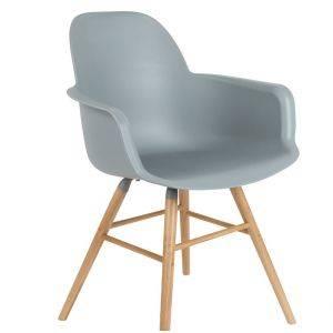 Scandinavian Light Grey Dining Chair