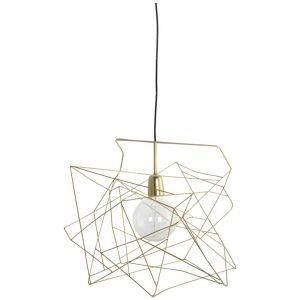 Gold Asymmetric Pendant Light