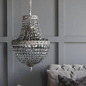 Silver Shadow Decadent Glass Chandelier