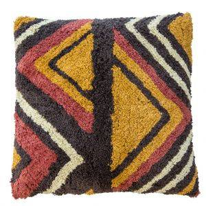 Vibrant African Inspired Geometric Cushion