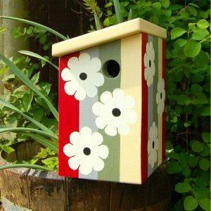 Personalised Flowers Bird Box