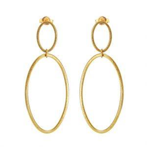 Cadence Double Hoop Drop Earrings