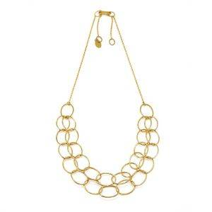 2 Line Gold Vermeil Cascade Necklace