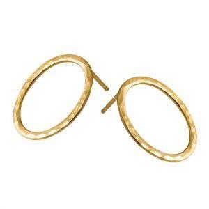 (De)Tangled Gold Textured Earrings