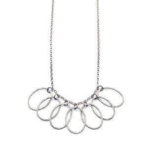 Small Cascade Leaf Link Necklace