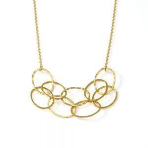 Small Gold Vermeil Cascade Necklace