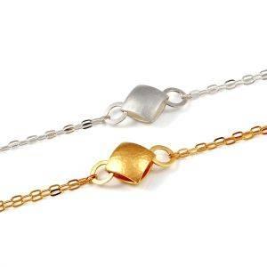 Small Pillow Chain Bracelets