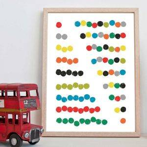 Abacus Counting Art Print