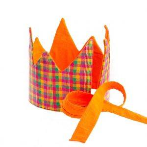 Reversible Plaid Fabric Crown