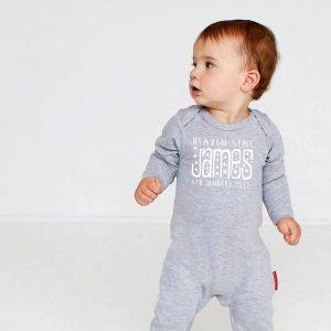 Personalised 'Heaven Sent' Baby Grow