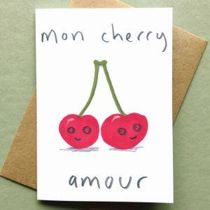 Mon Cherry Amour Card