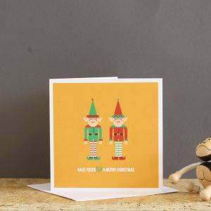 Smiley Elf Christmas Card