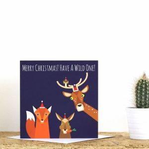 Wild One Christmas Card