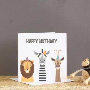 Safari Animals Birthday Card
