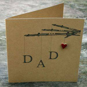 Father's Day Card With Ceramic Heart Detail