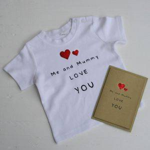 Me And Daddy Love You Mother's Day Card