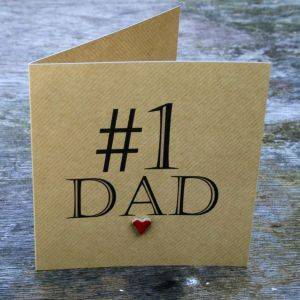Number One Dad Father's Day Card