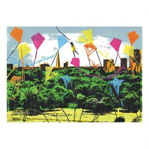 Primrose Hill London Original Silkscreen Print