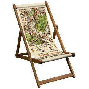 Kew Gardens Map London Transport Deck Chair
