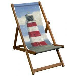 Lighthouse Art Print Deck Chair