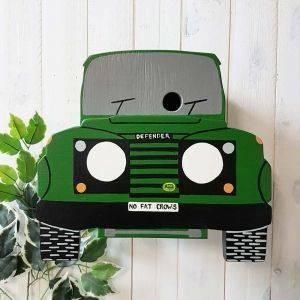 Personalised 4 Wheel Drive Bird Box